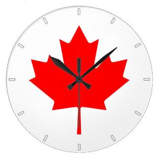 Canadian Flag Maple Leaf Wall Clock