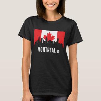 Canadian Flag Montreal Skyline T-Shirt