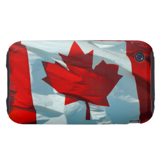 Canadian Flag O'Canada North America Patriotic Tough iPhone 3 Cover