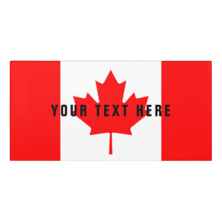 Canadian flag of Canada custom office Door Sign