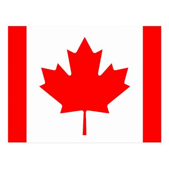 Canadian flag of Canada custom postcards