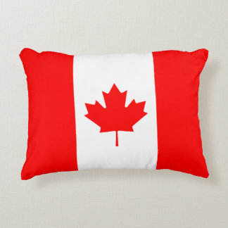 Canadian Flag of Canada Maple Leaf Accent Cushion