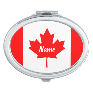Canadian flag of Canada personalized name Vanity Mirror