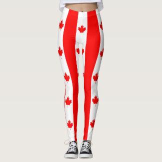 Canadian Flag of Canada Red Maple Leaf Leggings