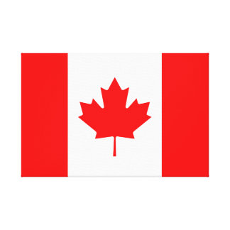 Canadian Flag of Canada Red Maple Leaf l'Unifolié Canvas Print