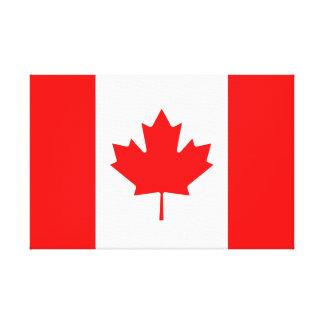 Canadian Flag of Canada Red Maple Leaf l'Unifolié Stretched Canvas Print