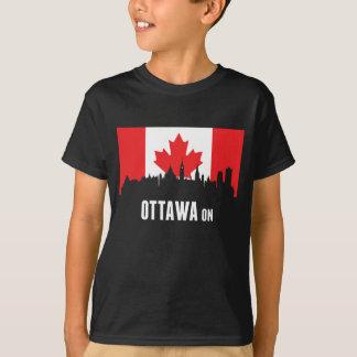 Canadian Flag Ottawa Skyline T-Shirt