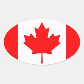 Canadian flag oval sticker   Flag of Canada