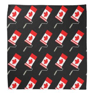 Canadian Flag Paint Roller Bandana