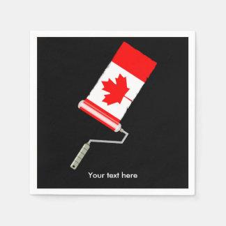 Canadian Flag Paint Roller Disposable Serviette