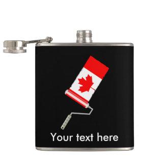 Canadian Flag Paint Roller Hip Flask
