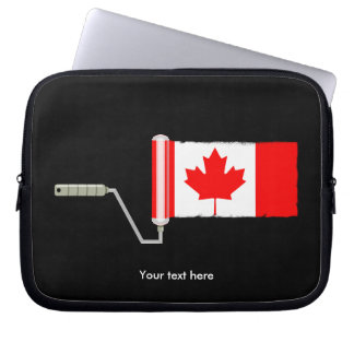 Canadian Flag Paint Roller Laptop Sleeve