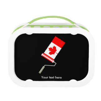 Canadian Flag Paint Roller Lunchbox