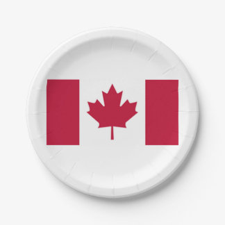 Canadian Flag Paper Plates