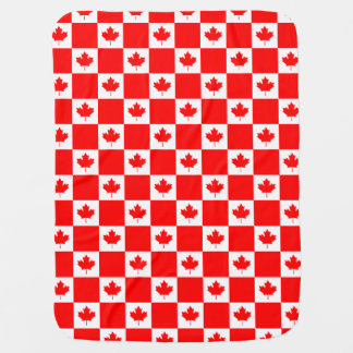 Canadian flag pattern baby blanket