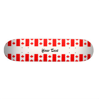 Canadian flag pattern skate boards