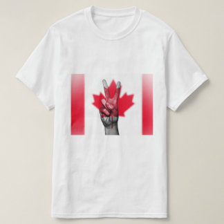 Canadian Flag Peace Sign - Patriotic T-Shirt