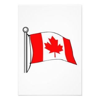 Canadian Flag Personalized Invitation