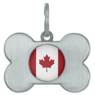 Canadian flag pet ID tag