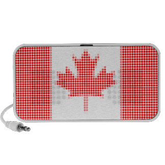 Canadian flag polka dots iPhone speakers