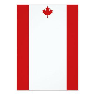 Canadian Flag Portrait Invitation