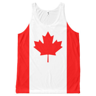 Canadian Flag Red Maple Leaf Full Print Tank Top All-Over Print Tank Top