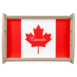 Canadian flag serving tray for Canada Day party