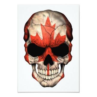 Canadian Flag Skull Invites
