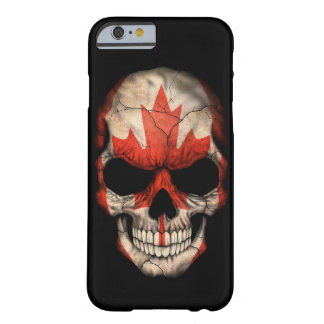 Canadian Flag Skull on Black Barely There iPhone 6 Case