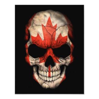 Canadian Flag Skull on Black Announcements