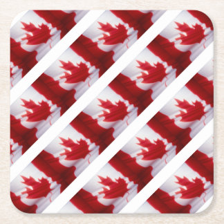 CANADIAN FLAG SQUARE PAPER COASTER