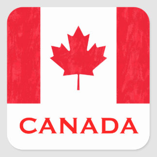 CANADIAN FLAG SQUARE STICKER