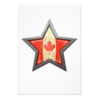 Canadian Flag Star Custom Invite