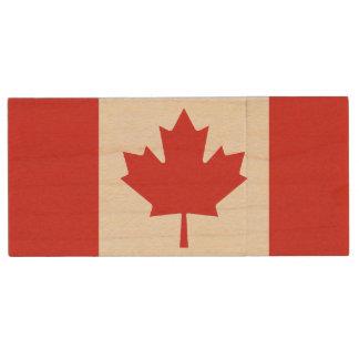 Canadian Flag USB Flash Drive Wood USB 2.0 Flash Drive