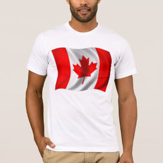Canadian Flag Waving T-Shirt