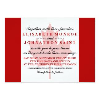 Canadian Flag Wedding 13 Cm X 18 Cm Invitation Card