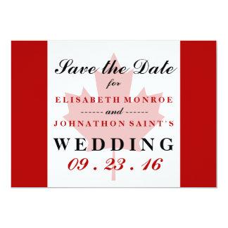 Canadian Flag Wedding Save The Date 13 Cm X 18 Cm Invitation Card