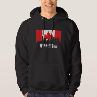Canadian Flag Winnipeg Skyline Hoodie