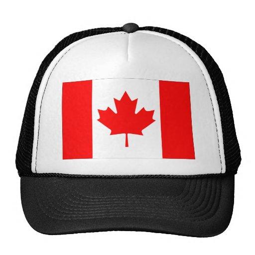 Canadian FlagPattern Mesh Hat