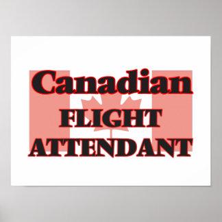 Canadian Flight Attendant Poster