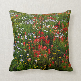 Canadian game flowers cushion
