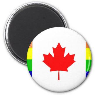 Canadian Gay Pride 6 Cm Round Magnet