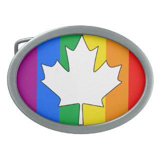 CANADIAN GAY PRIDE MAPLE BELT BUCKLE