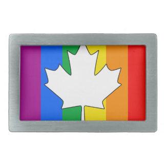 CANADIAN GAY PRIDE MAPLE BELT BUCKLES