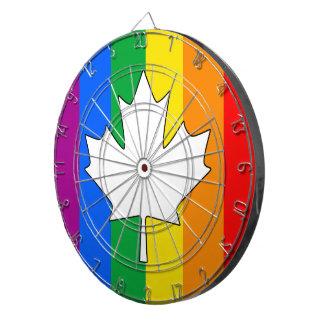 CANADIAN GAY PRIDE MAPLE DART BOARD