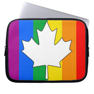 CANADIAN GAY PRIDE MAPLE COMPUTER SLEEVE