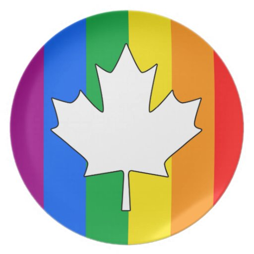 CANADIAN GAY PRIDE MAPLE PARTY PLATES