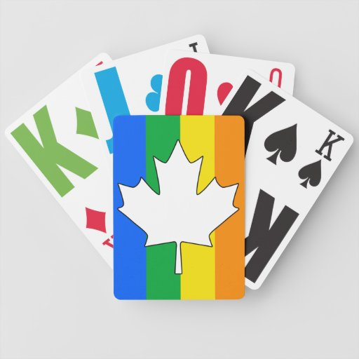 CANADIAN GAY PRIDE MAPLE POKER DECK