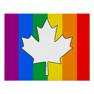 CANADIAN GAY PRIDE MAPLE POSTERS