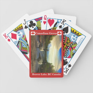 Canadian Geese Beaver Lake Bicycle Playing Cards